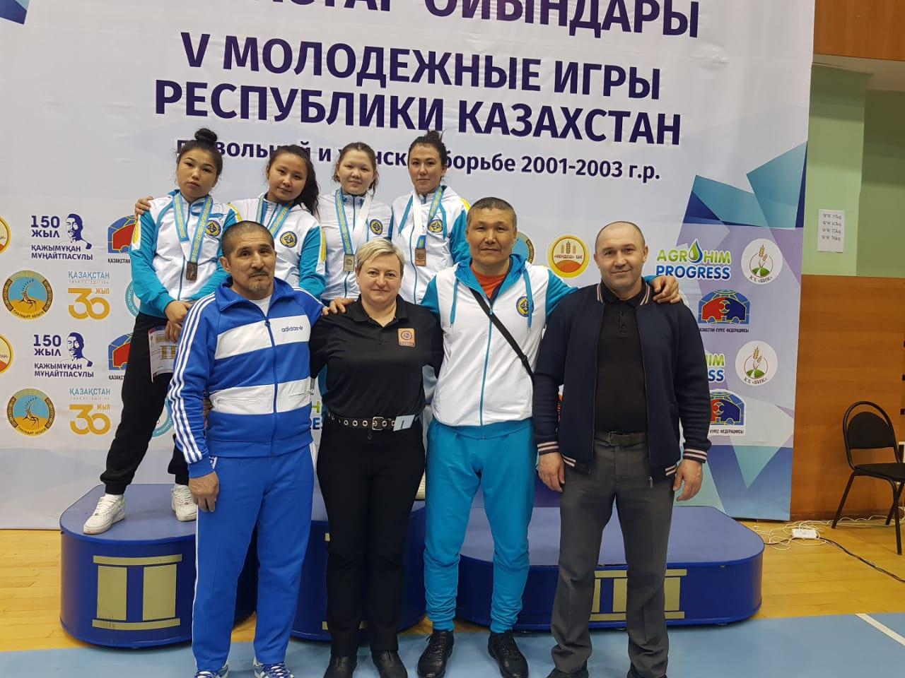 В г. Павлодаре  с  16-17 марта  2021  г.   прошли  V Международные игры  РК  по  женской борьбе среди молодежи 2001-2003 г.р.